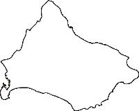 北海道函館市(はこだてし)の白地図無料ダウンロード