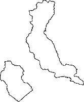 北海道釧路市(くしろし)の白地図無料ダウンロード