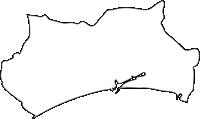 北海道苫小牧市(とまこまいし)の白地図無料ダウンロード