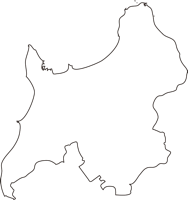 北海道稚内市(わっかないし)の白地図無料ダウンロード