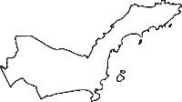 北海道根室市(ねむろし)の白地図無料ダウンロード