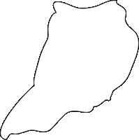 北海道北広島市(きたひろしまし)の白地図無料ダウンロード