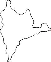 北海道渡島総合振興局福島町(ふくしまちょう)の白地図無料ダウンロード