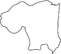 北海道渡島総合振興局知内町(しりうちちょう)の白地図無料ダウンロード