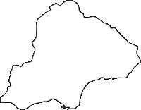 北海道渡島総合振興局木古内町(きこないちょう)の白地図無料ダウンロード