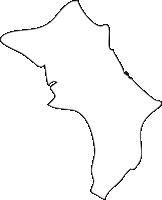 北海道渡島総合振興局鹿部町(しかべちょう)の白地図無料ダウンロード