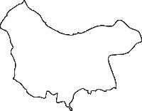 北海道渡島総合振興局森町(もりまち)の白地図無料ダウンロード