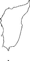 北海道檜山振興局奥尻町(おくしりちょう)の白地図無料ダウンロード