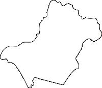北海道後志総合振興局倶知安町(くっちゃんちょう)の白地図無料ダウンロード