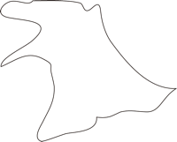 北海道空知総合振興局上砂川町(かみすながわちょう)の白地図無料ダウンロード