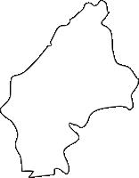 北海道空知総合振興局月形町(つきがたちょう)の白地図無料ダウンロード