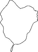 北海道空知総合振興局浦臼町(うらうすちょう)の白地図無料ダウンロード