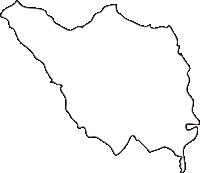 北海道空知総合振興局新十津川町(しんとつかわちょう)の白地図無料ダウンロード