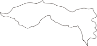 北海道空知総合振興局雨竜町(うりゅうちょう)の白地図無料ダウンロード