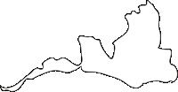 北海道空知総合振興局北竜町(ほくりゅうちょう)の白地図無料ダウンロード
