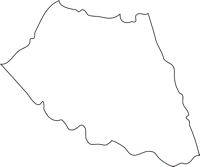北海道上川総合振興局当麻町(とうまちょう)の白地図無料ダウンロード