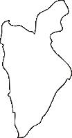 北海道上川総合振興局比布町(ぴっぷちょう)の白地図無料ダウンロード