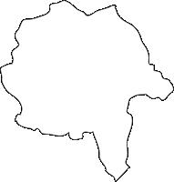 北海道上川総合振興局愛別町(あいべつちょう)の白地図無料ダウンロード