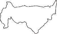 北海道上川総合振興局美瑛町(びえいちょう)の白地図無料ダウンロード