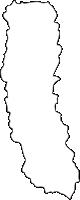 北海道上川総合振興局中川町(なかがわちょう)の白地図無料ダウンロード