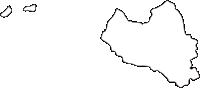 北海道留萌振興局羽幌町(はぼろちょう)の白地図無料ダウンロード