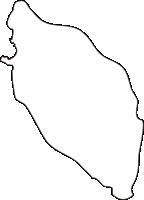 北海道宗谷総合振興局利尻町(りしりちょう)の白地図無料ダウンロード