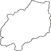 北海道オホーツク総合振興局遠軽町(えんがるちょう)の白地図無料ダウンロード