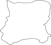 北海道胆振総合振興局豊浦町(とようらちょう)の白地図無料ダウンロード
