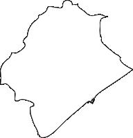 北海道胆振総合振興局白老町(しらおいちょう)の白地図無料ダウンロード