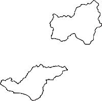 北海道日高振興局日高町(ひだかちょう)の白地図無料ダウンロード