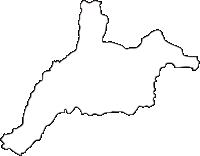 北海道日高振興局平取町(びらとりちょう)の白地図無料ダウンロード