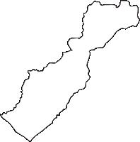 北海道日高振興局新冠町(にいかっぷちょう)の白地図無料ダウンロード