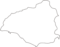 北海道日高振興局様似町(さまにちょう)の白地図無料ダウンロード