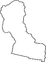 北海道十勝総合振興局上士幌町(かみしほろちょう)の白地図無料ダウンロード