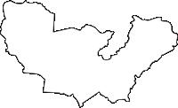 北海道十勝総合振興局足寄町(あしょろちょう)の白地図無料ダウンロード