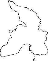 北海道釧路総合振興局厚岸町(あっけしちょう)の白地図無料ダウンロード