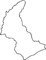 北海道釧路総合振興局白糠町(しらぬかちょう)の白地図無料ダウンロード