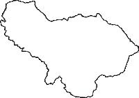 青森県黒石市(くろいしし)の白地図無料ダウンロード