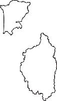 青森県五所川原市(ごしょがわらし)の白地図無料ダウンロード