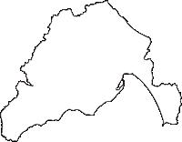 青森県むつ市(むつし)の白地図無料ダウンロード