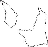 青森県東津軽郡外ヶ浜町(そとがはままち)の白地図無料ダウンロード
