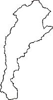 青森県西津軽郡鰺ヶ沢町(あじがさわまち)の白地図無料ダウンロード