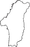 青森県西津軽郡深浦町(ふかうらまち)の白地図無料ダウンロード