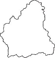 青森県中津軽郡西目屋村(にしめやむら)の白地図無料ダウンロード