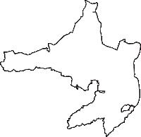 青森県上北郡東北町(とうほくまち)の白地図無料ダウンロード