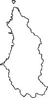青森県下北郡大間町(おおままち)の白地図無料ダウンロード