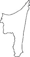 青森県下北郡東通村(ひがしどおりむら)の白地図無料ダウンロード