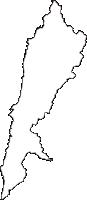 青森県下北郡佐井村(さいむら)の白地図無料ダウンロード