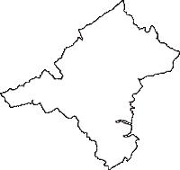 青森県三戸郡南部町(なんぶちょう)の白地図無料ダウンロード