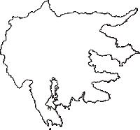 岩手県大船渡市(おおふなとし)の白地図無料ダウンロード